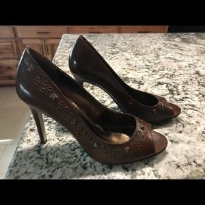 Enzo Angiolini leather studded heels